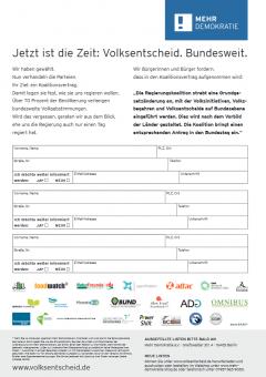 Unterschriftenliste Volksentscheid